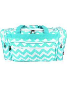 Light Aqua Chevron Duffle Bag Duffle Bag Travel 5918ad98301b3