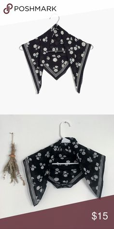 b44dd7b3d0bd Shop Women s Madewell Black White size OS Scarves   Wraps at a discounted  price at Poshmark. Tag has been removed.