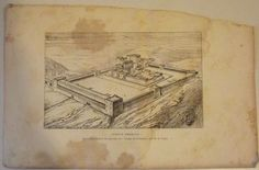 JUDAICA JERUSALEM TEMPLE D'HERODE HORDUS OLD PICTURE בית המקדש | eBay