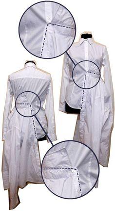 Как сшить платье из рубашек от TALIA