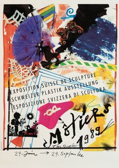 Jean Tinguely 1989 Jean Tinguely, Exhibition Poster, Sculpture, Doodles, Graphic Design, Movie Posters, Street, Collection, Art