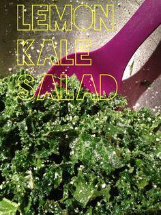 lemon kale salad -  add chopped smoked sun-dried tomatoes and pine nuts.