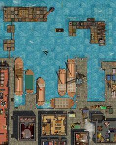 Dock Scene -Encounter map
