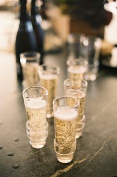 Stemless Champagne Flutes for a Modern Wedding | Jen Fariello Photography | See More! http://heyweddinglady.com/peonies-champagne-wedding-inspiration-new-hey-wedding-lady/