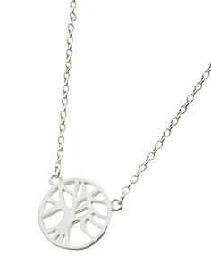 Silver Tone / Lead Compliant Metal / Sterling Silver / Tree Of Life / Delicate / Necklace