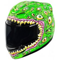 Icon Airmada Sensory Helmet at RevZilla.com - The eyes glow in the dark.