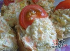 7 skvělých a rychlých receptů na jarní pomazánky | NejRecept.cz Mashed Potatoes, Grains, Menu, Eggs, Chicken, Breakfast, Ethnic Recipes, Food, Laksa