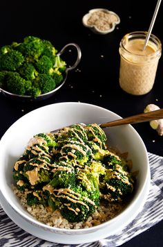 This bowlful of steamed brown rice and broccoli is surprisingly filling.