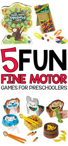 5 Fun Fine Motor Games for Preschoolers