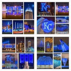 In honor of the 2015 KC Royals' World Series Victory - Kansas City all decked out in blue.