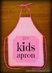 "That's My Letter: ""A"" is for Apron (kid size)"