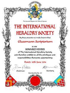 Diploma Sociedade Heraldica