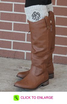 Monogram Boot Cuffs