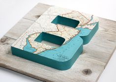 vintage map diy idea