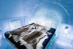 Bên trong khách sạn băng lạnh toát ở Thụy Điển