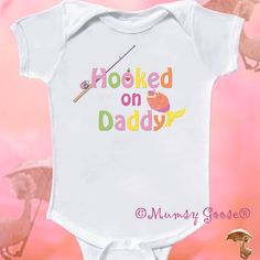 Funny Girl Onesie  Fishing Baby Girl