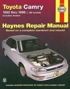 90 01 toyota camry rear end noise sway stabilizer bar bushing haynes repair manual toyota camry 1992 1996 all models includes avalon fandeluxe Images
