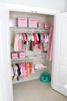 Organizing for baby's closet