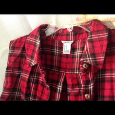 sleeveless flannel top sleeveless red flannel top, never worn before. Forever 21 Tops