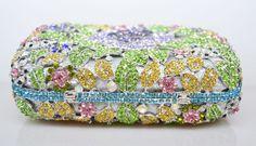 Luxury Crystal Clutches Evening Bag Box Shape Party Bag Women Wedding Bag Chain Handle Shoulder_7     https://www.lacekingdom.com/