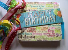 Happy Birthday  Mini Scrapbook Album Birthday by HampshireRose