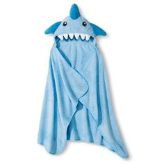 Circo® Newborn Boys' Hooded Shark Towel Wrap - Blue