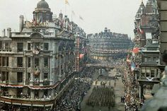 """London's """"Peace Day"""", 19th July 1919 As preparations were made for the Victory Parade in London, a huge military camp grew up in Kensington Garden…"""