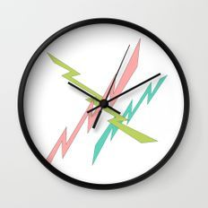 Zig Zag Wall, White Wall Clocks, Coral Walls, Wood Clocks, Diy Wall Art, Pattern Design, Slim, Style, Wall Clocks