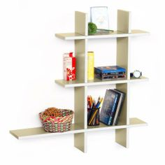Trista - [Brief & Elegance-A] Leather Cross Type Shelf / Bookshelf / Floating Shelf (5 pcs) by Trista Wall Shelf. $69.89. Display souvenirs, photos, CDs, awards, books, decorative items and more.. Adds a rich upscale look to any room, updates your home decor with the stylish & convenient shelves.. Top faux leather covering with contrast stitching over a sturdy wooden frame.. Maximum weight capacity: 10 lbs for each shelf on solid wall. Wipe clean with a dry cloth.. Abl...