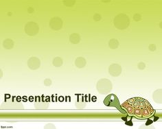 Turtle PowerPoint template is a free green template with a turtle illustration and vector in the free PowerPoint background