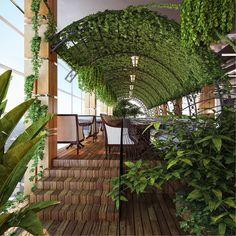 #gogreen vegetation ceiling cloud