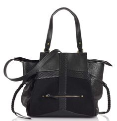 Sac Anatole Medium Caviar Noir by JEROME DREYFUSS