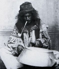A Kalderari man mending a pot. Hungary. c. 1892.