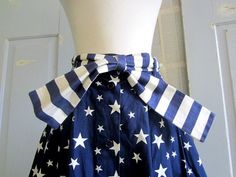 1980s High Waist Skirt 80s Navy Blue Stars by SassySisterVintage, $32.00