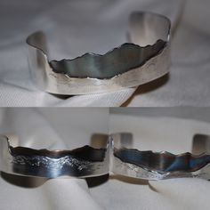 Preserve your memories of your favorite mountain vista by purchasing a custom mountain bracelet.  Each mountain cuff bracelet is made with all sterling silver and is patinated. The patina is sealed with a polishing wax that protects it from wearing away and makes the colors more vibrant.  All designs are original and created by me from the first conceptual drawings to the final piece.