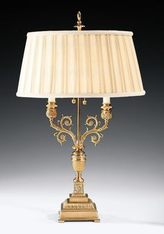 Traditional table lamp with urn and scrolls made of solid brass. This brass table lamp is designed with classic urn. Richly embellished base gives this table lamp a formal flair Lamp Design, Table Lamp, Sconce Lamp, Brass Table Lamps, Candlestick Lamps, Table Top Lamps, French Lamp, Floor Lamp, Brass Lamp