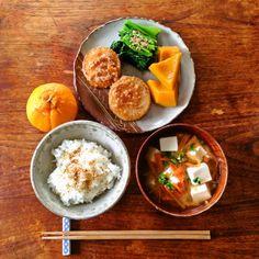 朝食 Clean Recipes, Real Food Recipes, Yummy Food, Healthy Meal Prep, Healthy Eating, Food Combining, Japanese Food, Japanese Meals, Aesthetic Food