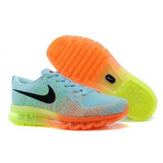 free shipping 80505 6c227 Nike Flyknit Air Max Womens Glacier Ice Black Atomic Orange Volt by Jimmy  Jonson