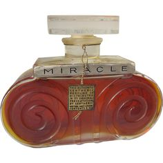 Mint Perfume Bottle by Lentheric Miracle Parfum Perfume Foil Label Unopened 1924