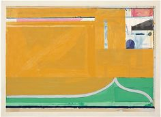 DIEBENKORN Ochre 1983 Color woodcut Sheet: 27 3/8 x 38 1/4 inches (69.5 x 97.2 cm) Image: 24 7/8 x 35 5/8 inches (63.2 x 90.5 cm)
