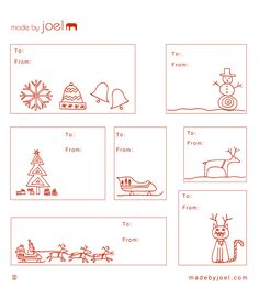 Cute Holiday Gift Tags. You can print them on Avery full-sheet labels. #christmas