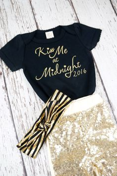 baby new years outfit, my first new years, new years outfit, baby outfit, girl outfit, gold sparkle pants, 2016 baby outfit, black and gold by PoshPeanutKids on Etsy https://www.etsy.com/listing/254986713/baby-new-years-outfit-my-first-new-years