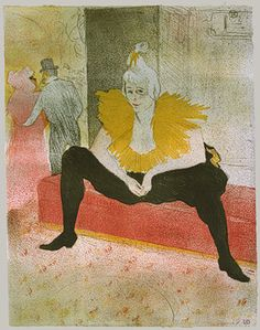 The Seated Clowness (Mademoiselle Cha-u-Kao), 1896  Henri de Toulouse-Lautrec (French, 1864–1901)  The Metropolitan Museum of Art