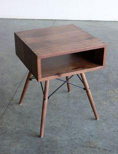 "Mid Century Modern Inspired Side Table. $399.00, via Etsy.  16.5"" x 16.5"" x 21"""