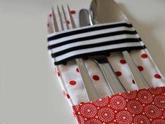 Bine von binedoro hat wahrhaftig eine tolle Idee für Deinen Esstisch in der Tasche. Diese selbstgenähte Bestecktasche ist ein außergewöhnliche und praktische Dekoration auf dem Tisch und lässt ihn aufgeräumt und elegant wirken.