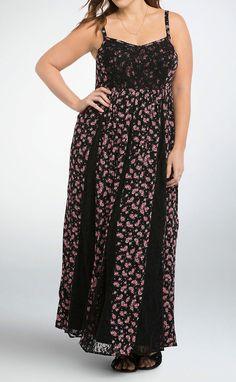 NWT Torrid Dress Plus Size 2 2x Floral Sheer Lace Inset Maxi Dress Long Pink Sun #Torrid #Maxi #SummerBeach