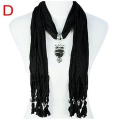 Stylish Charm Accessories Scarf Wholesale For Ladies Canada - Solid Black