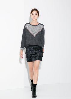 MANGO - Fringed miniskirt #FW14 #NEW