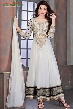 Off White color Georgette Fabric designer door VardhitaSarees