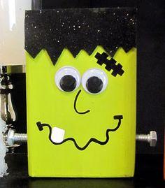 Halloween Blocks with 2x4 scrap [DIY Halloween Decorations] ~ Be Different...Act Normal